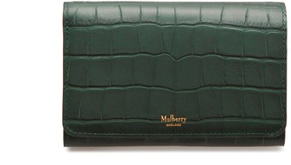 Mulberry Medium Continental French Purse Green Matte Croc
