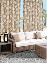 Commonwealth Home Fashions Seashells Grommet Top Indoor/Outdoor Curtain Panel in Sand