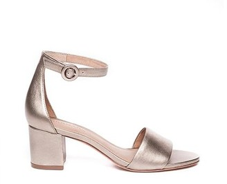 Bernardo Belinda Platinum Block Heel Sandal