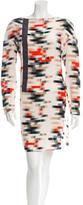 Cacharel Silk Geometric Print Dress w/ Tags