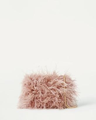 Loeffler Randall Zelda Feather Crossbody Pink