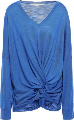 Stella McCartney Twist-front Slub Silk-jersey Top