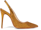 Schutz Glittered coated-leather pumps