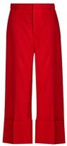 Sea High-rise wide-leg wool trousers
