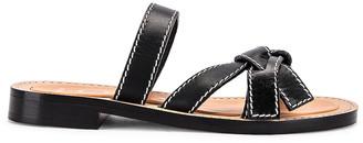Loewe Gate Flat Sandal in Black | FWRD