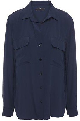 7 For All Mankind Crepe De Chine Shirt