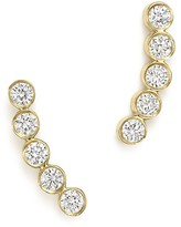 Chicco Zoë 14K Gold & Bezel Set Diamond Stud Earrings