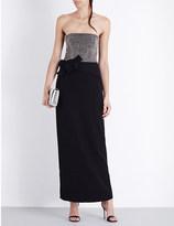 Armani Collezioni Beaded strapless crepe gown