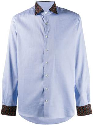 Etro contrasting cuff and collar shirt