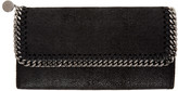 Stella McCartney Black Falabella Continental Flap Wallet