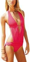 Anvoro Women's Deep V-neck One Piece women 2 Piece Swimsuit Swimwear