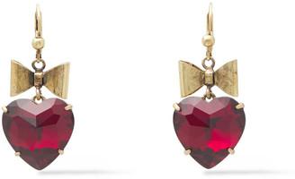 Tory Burch Oxidized Gold-tone Crystal Earrings