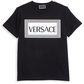 Versace Little Boy's & Boy's Checkered Logo T-Shirt