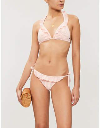 Tommy Hilfiger Striped seersucker bikini top
