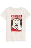 Little Eleven Paris Toddler Girl's Little Elevenparis Minnie Mouse Moustache Tee