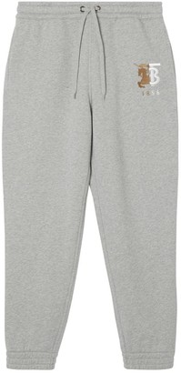 Burberry Contrast Logo Graphic Cotton Trackpants