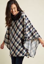 ModCloth Sweet as Cider Sweater in Arctic Plaid in 1X/2X