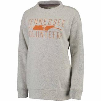 Women's Pressbox Cream Tennessee Volunteers Comfy Terry Crew Sweatshirt