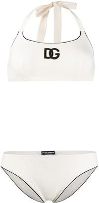 Dolce & Gabbana logo print bikini