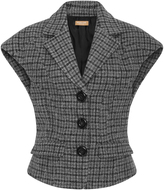 Michael Kors Sculpted Houndstooth Vest