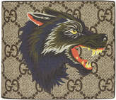 Gucci Beige GG Supreme Wolf Wallet