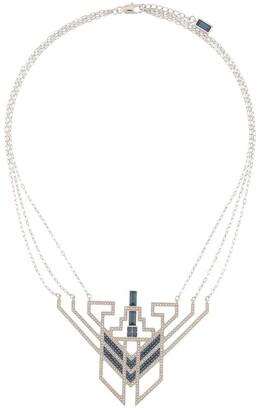 Karl Lagerfeld Paris Geometric Pendant Chain Necklace