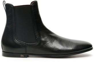 Dolce & Gabbana Monogram Logo Chelsea Boots
