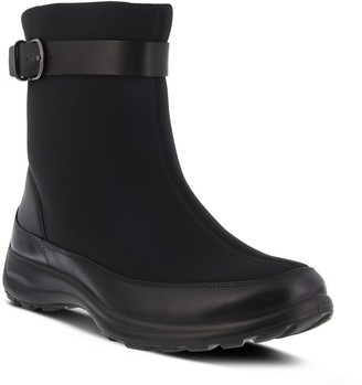 Spring Step Flexus Leather And Lycra Booties - Himalaya