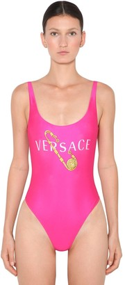 Versace Printed Lycra One Piece Swimsuit