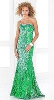 Blush Lingerie Glittering Strapless Long Dress 9306