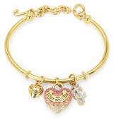 Juicy Couture Gradient Pave Heart Slider Bangle