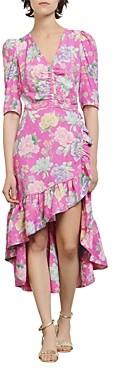 Sandro Leoni Floral Print Dress