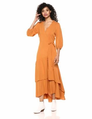 ASTR the Label Women's Sleeve WRAP Long Maxi Dress