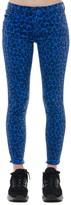 J Brand Blue And Black Leopard Denim Skinny Jeans
