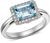 Bloomingdale's Aquamarine & Diamond Ring in 14K White Gold - 100% Exclusive