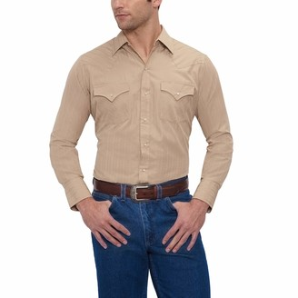 ELY CATTLEMAN Men's Long Sleeve Tone Western Shirt