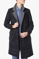 7 For All Mankind Wool Boyfriend Coat In Navy