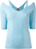I'M Isola Marras cut-out detail knitted blouse - women - Viscose/Polyester - M