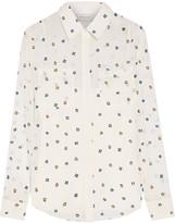 Paul & Joe Embroidered georgette blouse