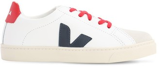 Veja Leather Lace-up Sneakers