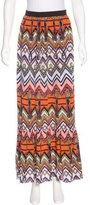 MSGM Silk Maxi Skirt