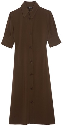Aspesi Cady Button Front Dress in Khaki Militaire