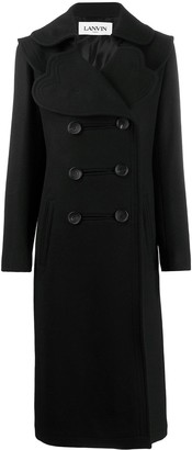 Lanvin Scalloped Neckline Double-Breasted Coat