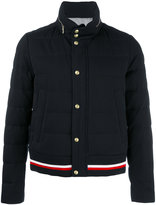 Moncler Gamme Bleu logo patch bomber jacket - men - Cotton/Feather Down/Nylon/Cupro - 4
