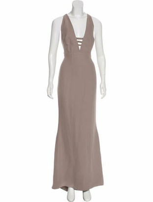 Valentino Sleeveless Maxi Dress Grey