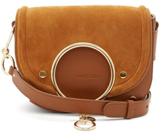 See by Chloe Mara Small Suede And Leather Cross-body Bag - Brown