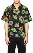 Prada Men's Hibiscus-Print Crepe Bowling Shirt