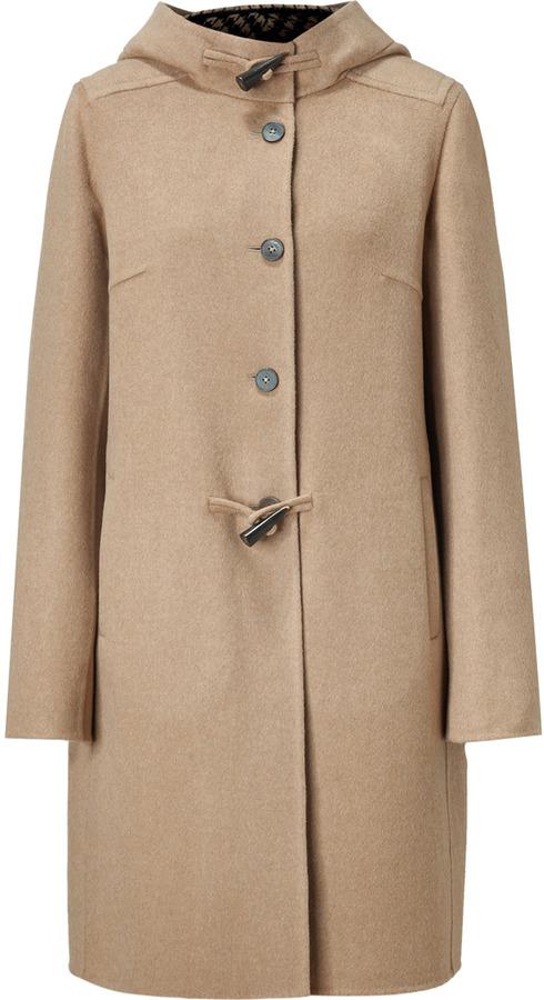 Jil Sander Beige Wool Toggle Coat