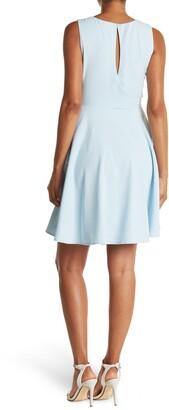 Lucy Paris Sherry V-Neck Belted A-Line Pocket Dress