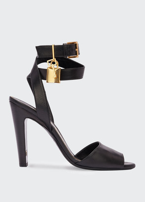 Tom Ford Leather Lock-And-Key Sandals